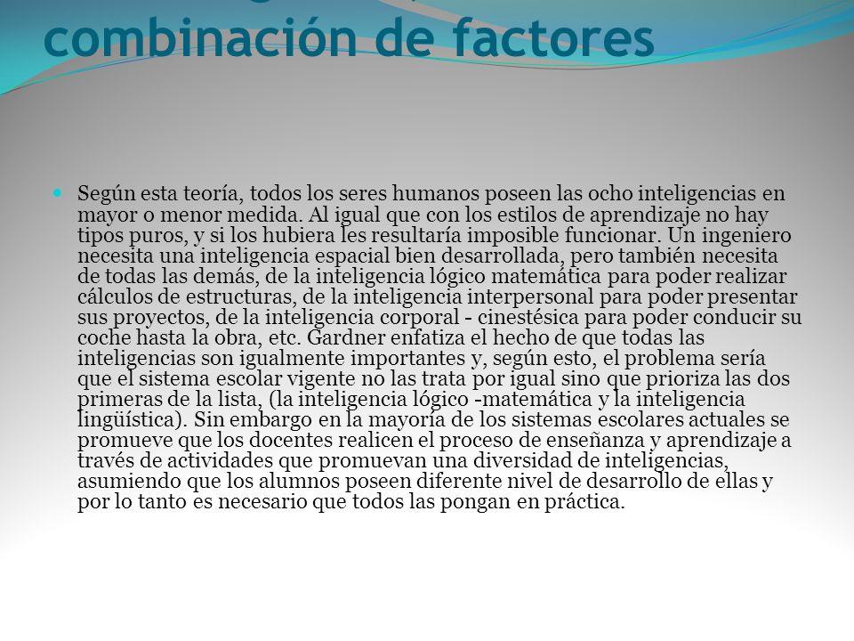 La inteligencia, una combinación de factores