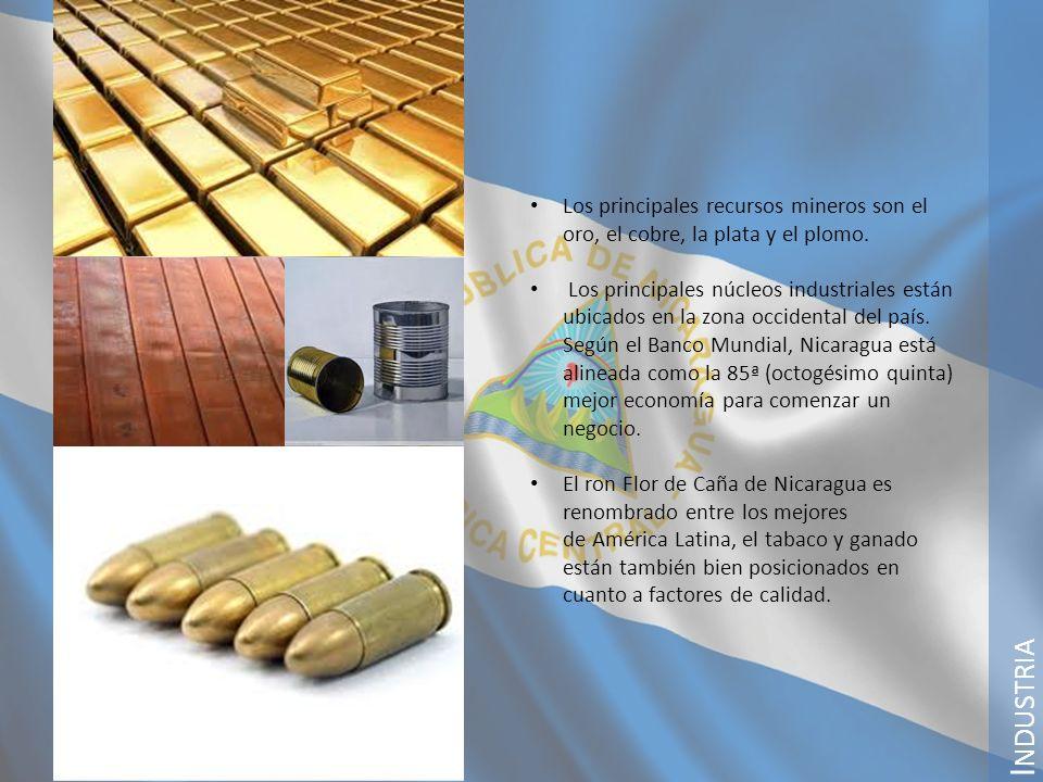 Los principales recursos mineros son el oro, el cobre, la plata y el plomo.