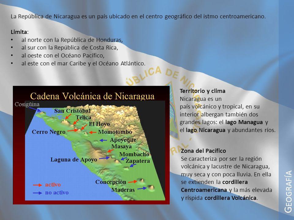 La República de Nicaragua es un país ubicado en el centro geográfico del istmo centroamericano.