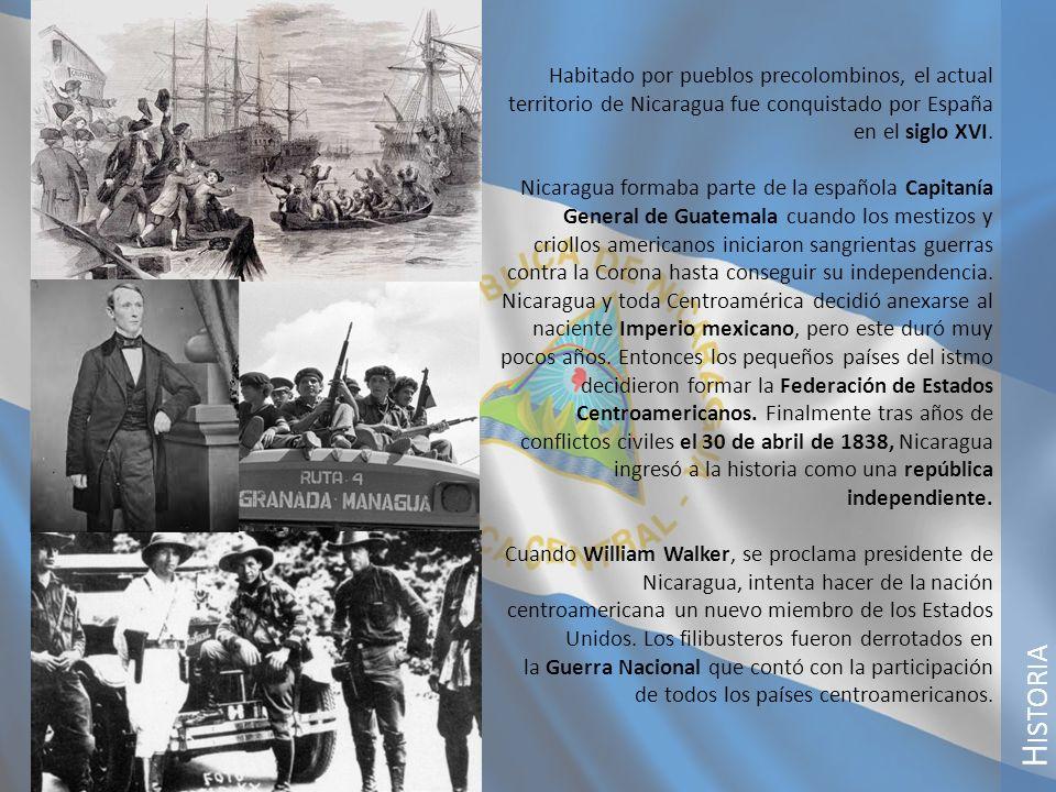 Habitado por pueblos precolombinos, el actual territorio de Nicaragua fue conquistado por España en el siglo XVI.