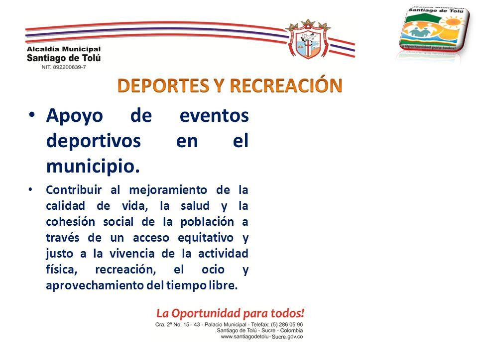 Apoyo de eventos deportivos en el municipio.