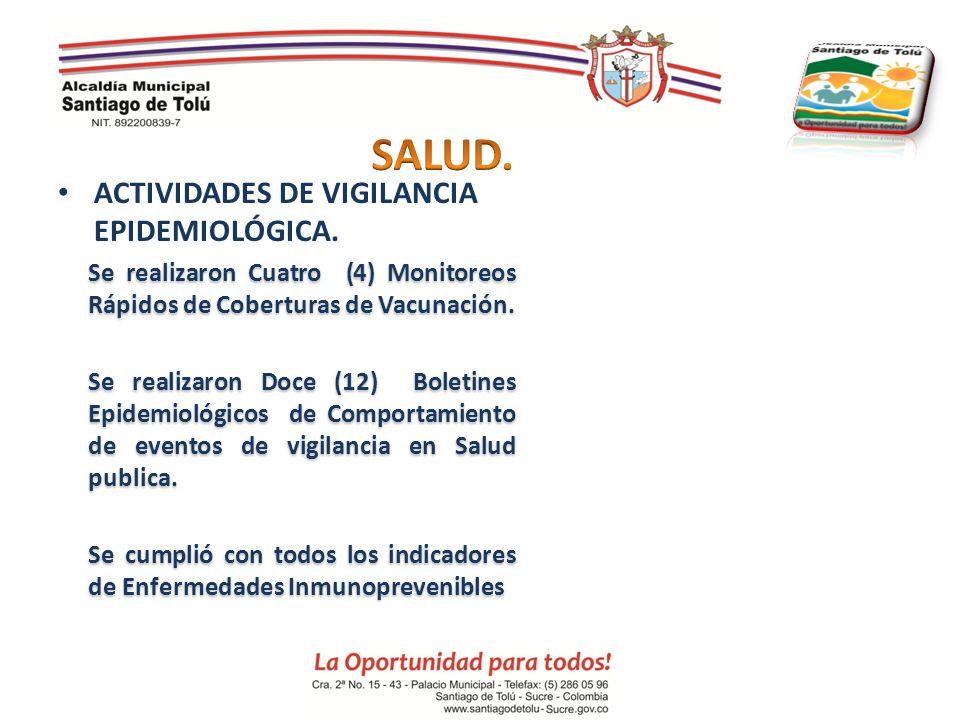 SALUD. ACTIVIDADES DE VIGILANCIA EPIDEMIOLÓGICA.