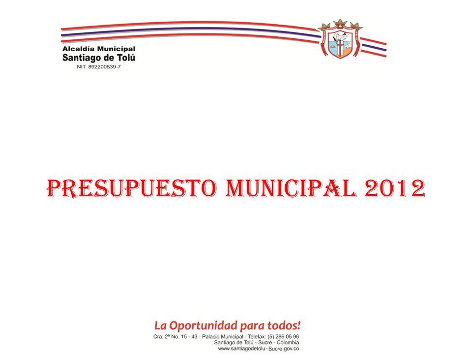 PRESUPUESTO MUNICIPAL 2012