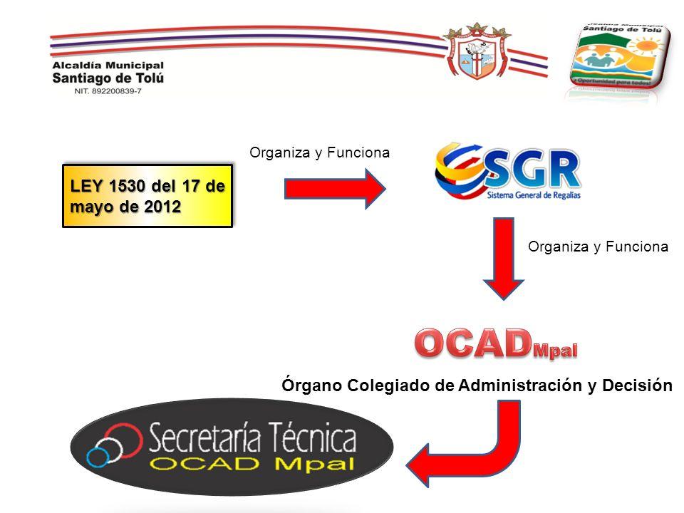 OCADMpal LEY 1530 del 17 de mayo de 2012