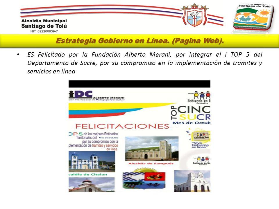 Estrategia Gobierno en Línea. (Pagina Web).