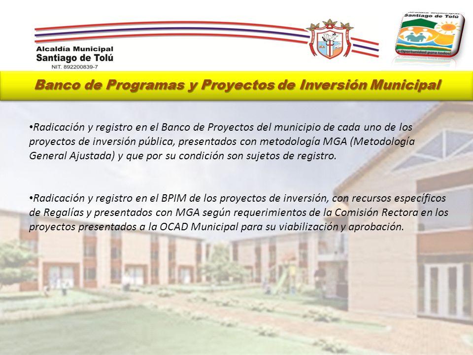 Banco de Programas y Proyectos de Inversión Municipal