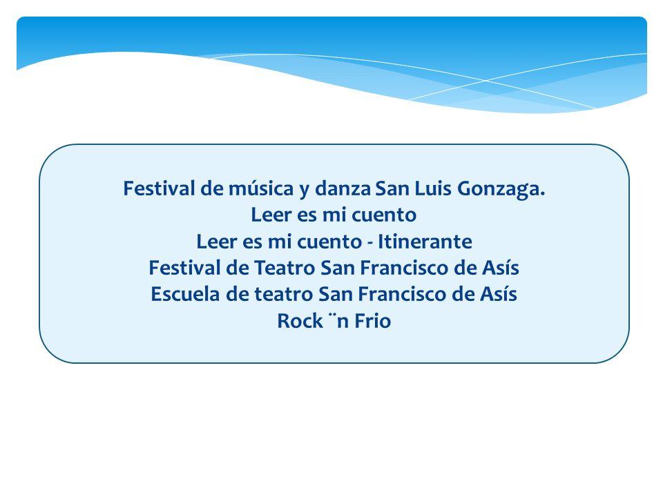 Festival de música y danza San Luis Gonzaga. Leer es mi cuento