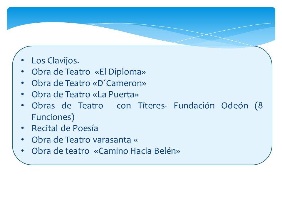 Los Clavijos. Obra de Teatro «El Diploma» Obra de Teatro «D´Cameron» Obra de Teatro «La Puerta»