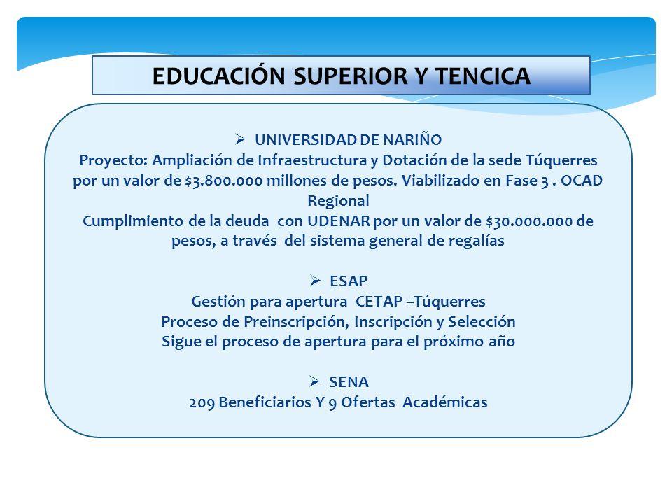 EDUCACIÓN SUPERIOR Y TENCICA