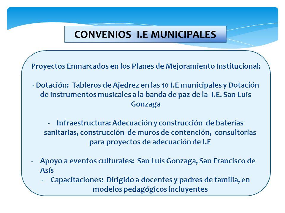 CONVENIOS I.E MUNICIPALES