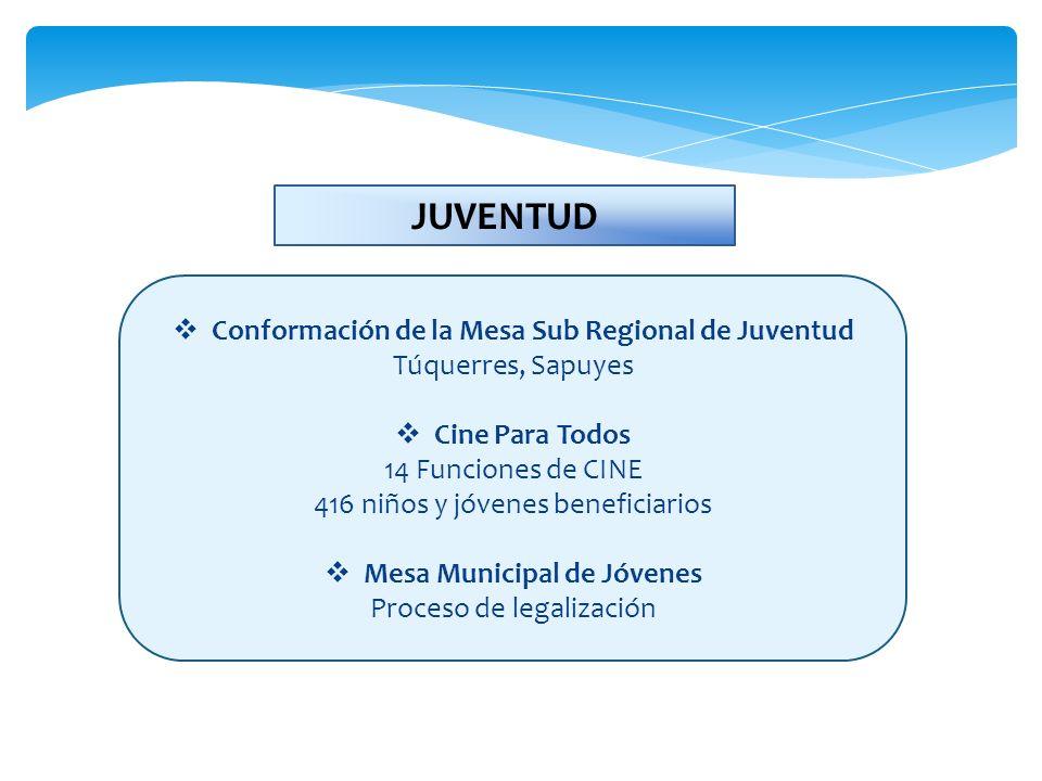 JUVENTUD Conformación de la Mesa Sub Regional de Juventud