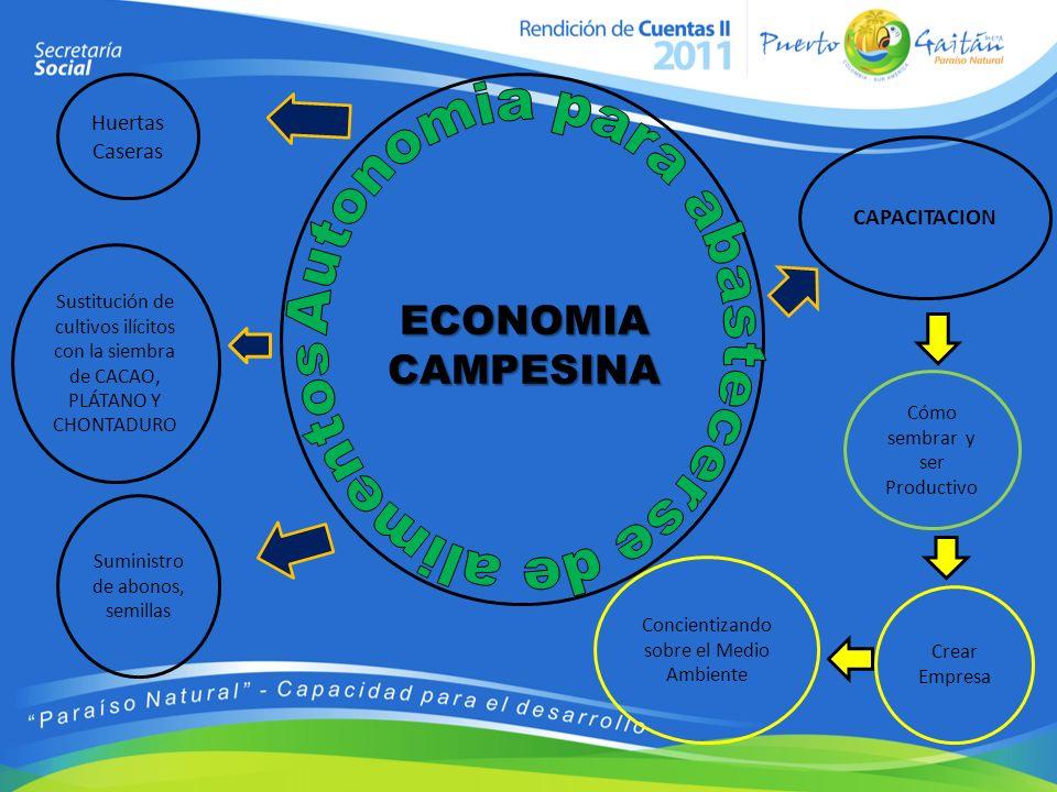 ECONOMIA CAMPESINA Autonomia para abastecerse de alimentos