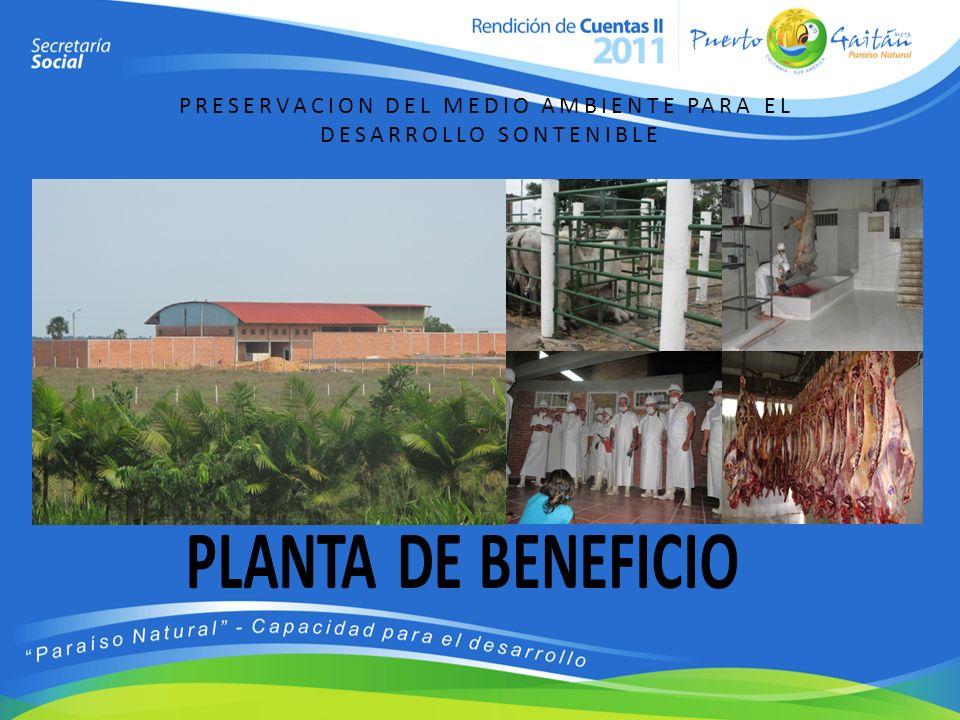PLANTA DE BENEFICIO PRESERVACION DEL MEDIO AMBIENTE PARA EL