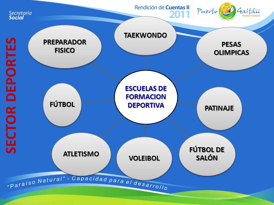 ESCUELAS DE FORMACION DEPORTIVA