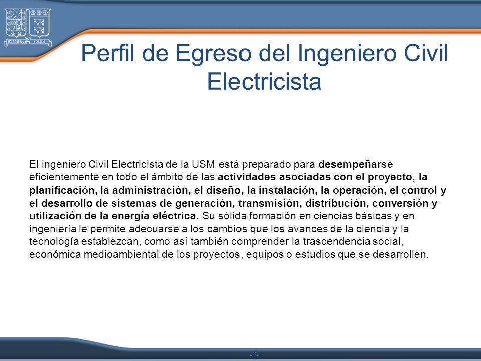 Perfil de Egreso del Ingeniero Civil Electricista