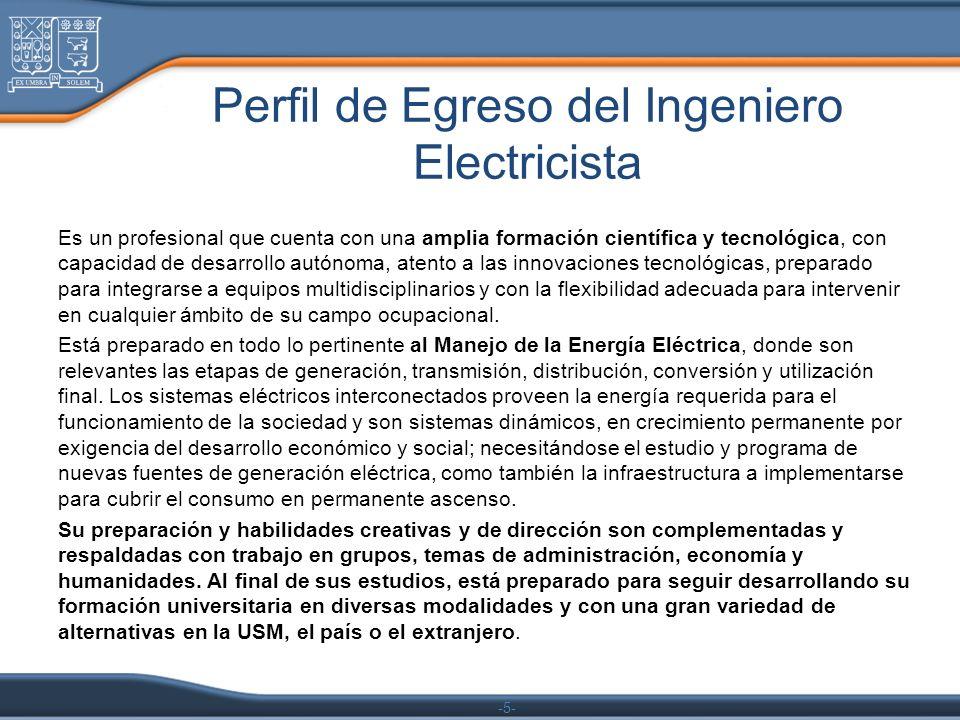 Perfil de Egreso del Ingeniero Electricista