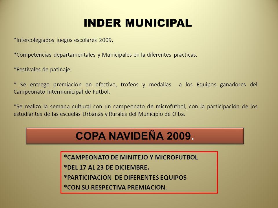 INDER MUNICIPAL COPA NAVIDEÑA 2009.