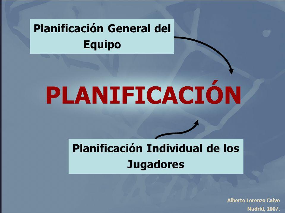PLANIFICACIÓN Planificación General del Equipo
