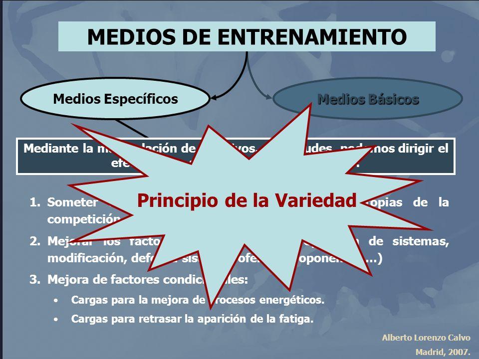 MEDIOS DE ENTRENAMIENTO Principio de la Variedad