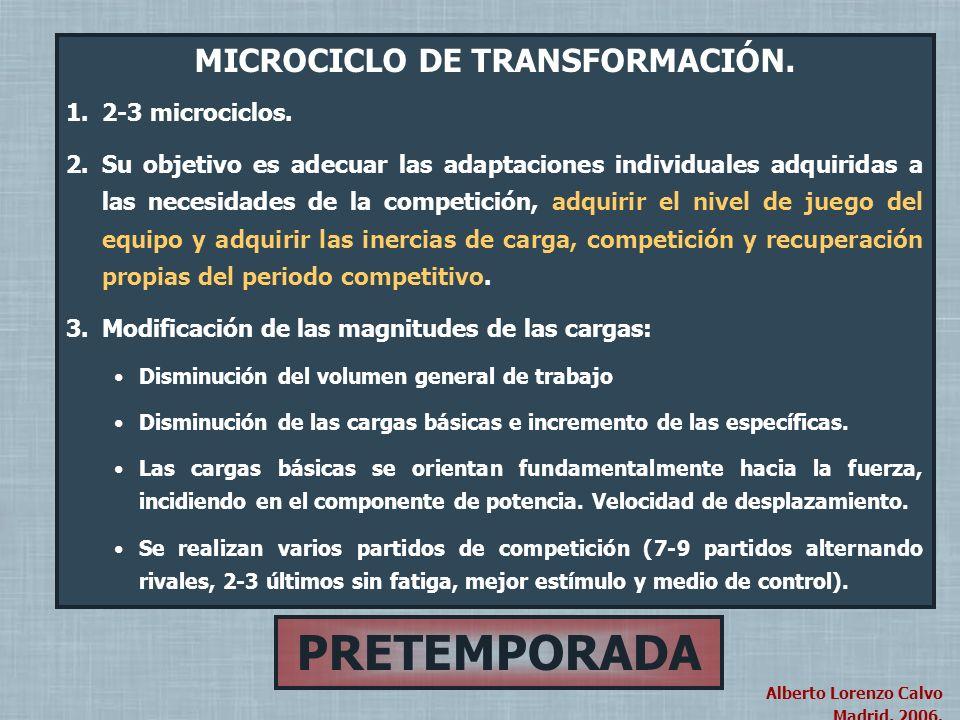 PRETEMPORADA PERIODO PRINCIPAL (4-5- Microciclos)