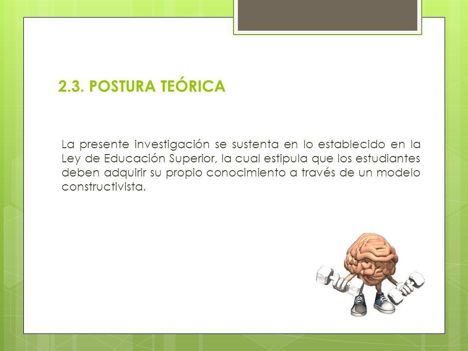 2.3. POSTURA TEÓRICA