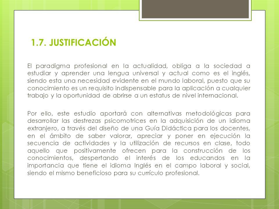 1.7. JUSTIFICACIÓN