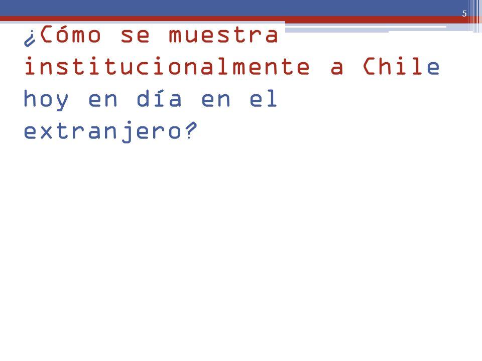 ¿Cómo se muestra institucionalmente a Chile hoy en día en el extranjero