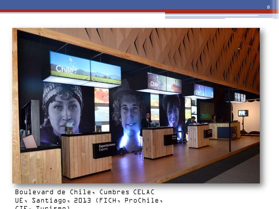 Boulevard de Chile, Cumbres CELAC UE, Santiago, 2013 (FICH, ProChile, CIE, Turismo)