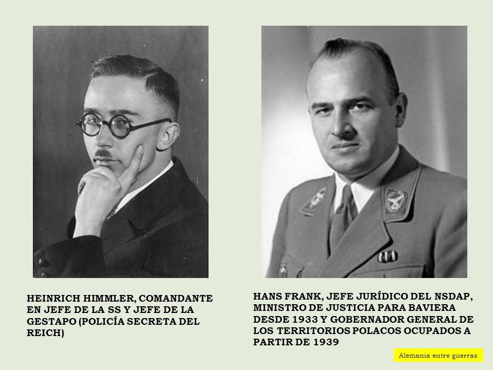 Heinrich Himmler, Comandante en jefe de la SS y jefe de la Gestapo (policía secreta del Reich)