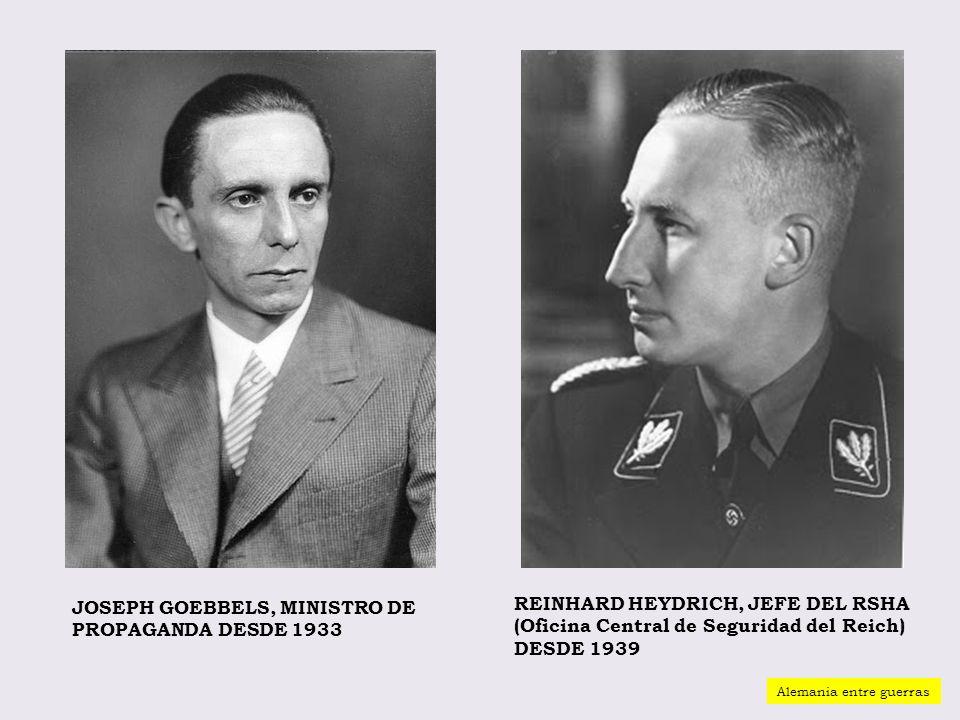 JOSEPH GOEBBELS, MINISTRO DE PROPAGANDA DESDE 1933