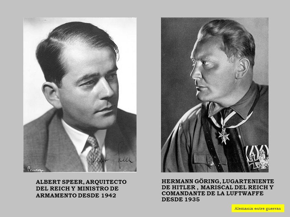Albert Speer, arquitecto del Reich y ministro de Armamento desde 1942