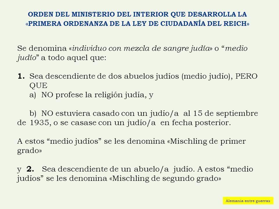 ORDEN DEL MINISTERIO DEL INTERIOR QUE DESARROLLA LA