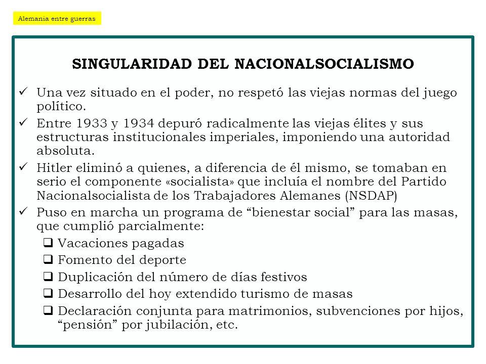 SINGULARIDAD DEL NACIONALSOCIALISMO