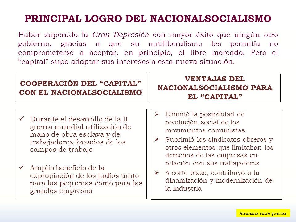 PRINCIPAL LOGRO DEL NACIONALSOCIALISMO