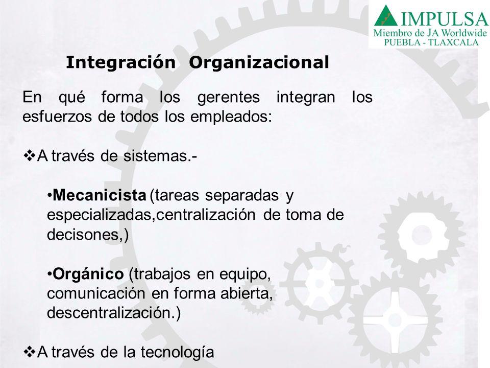 Integración Organizacional