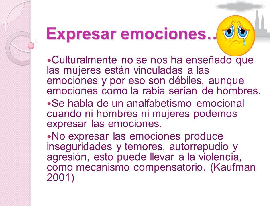 Expresar emociones…