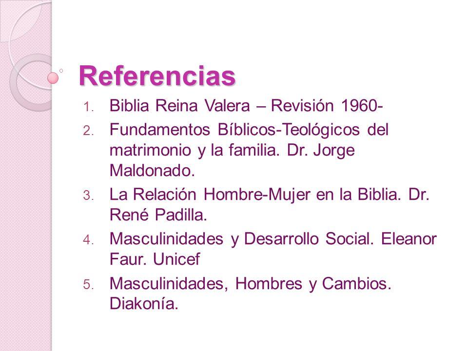 Referencias Biblia Reina Valera – Revisión 1960-