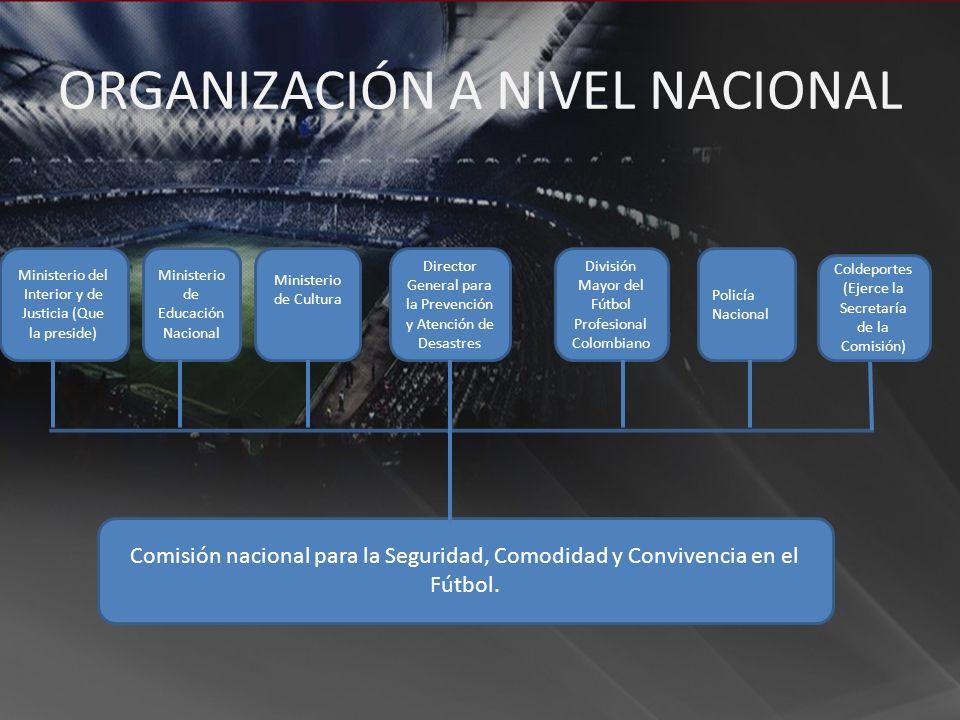ORGANIZACIÓN A NIVEL NACIONAL