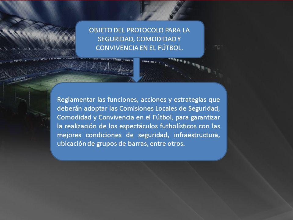 OBJETO DEL PROTOCOLO PARA LA SEGURIDAD, COMODIDAD Y CONVIVENCIA EN EL FÚTBOL.