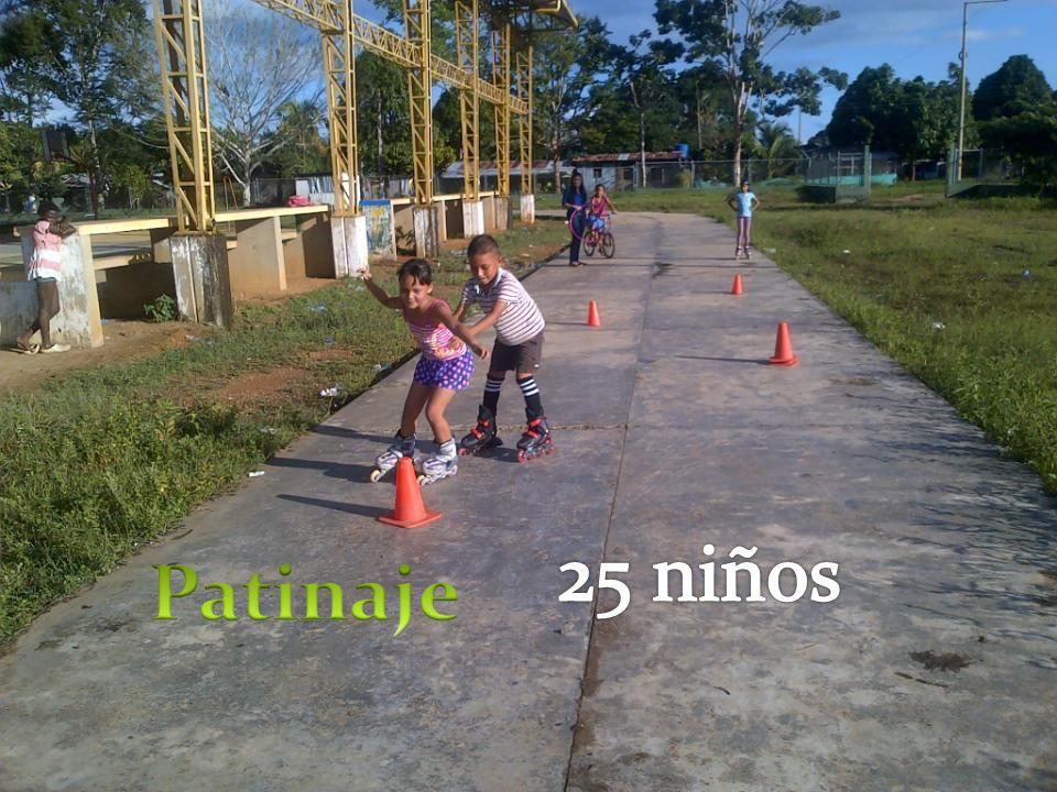 25 niños Patinaje