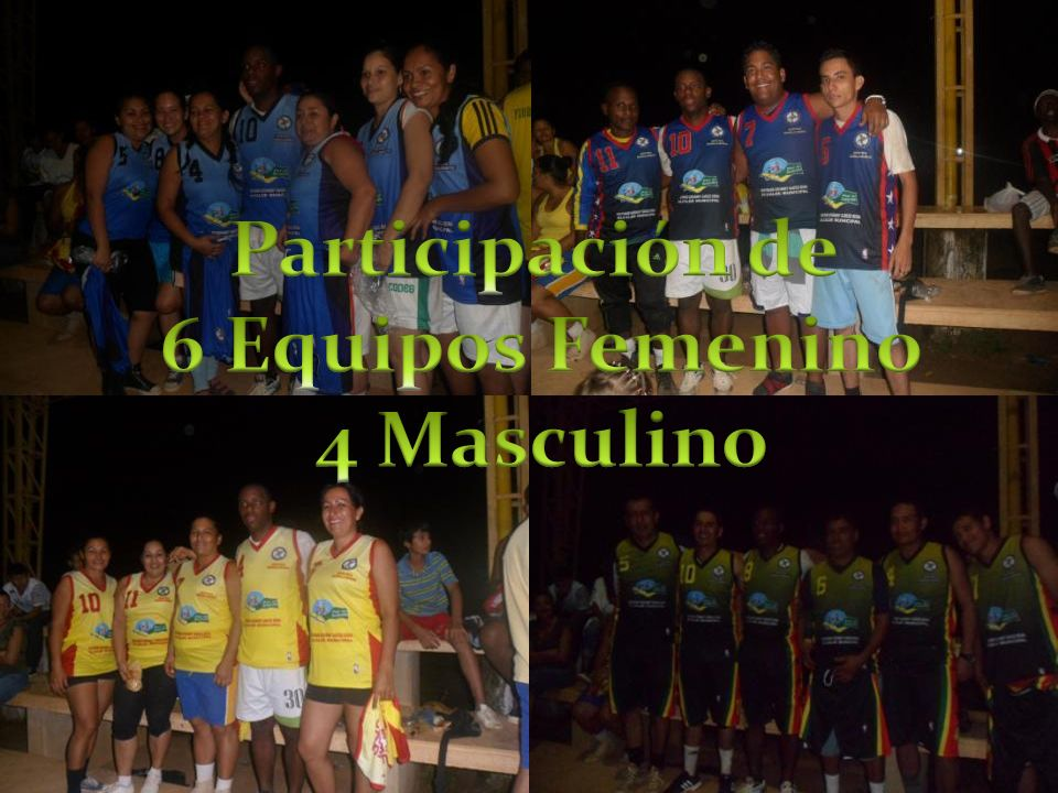 Participación de 6 Equipos Femenino 4 Masculino