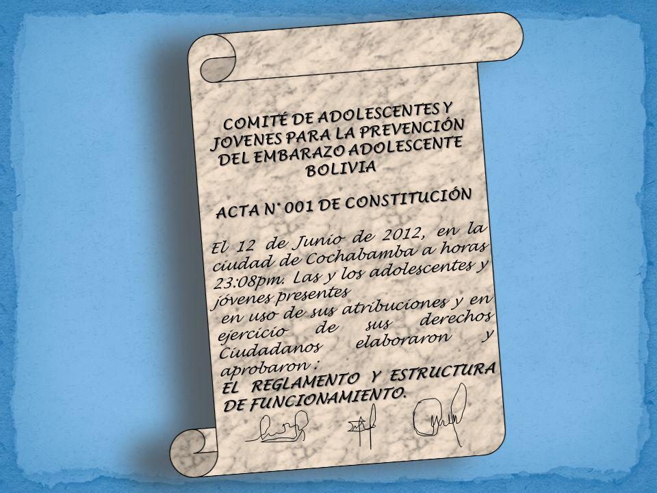 ACTA N° 001 DE CONSTITUCIÓN