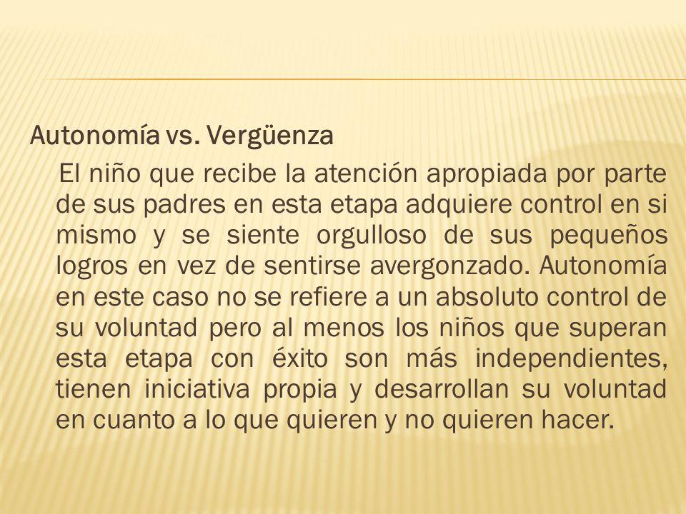 Autonomía vs.