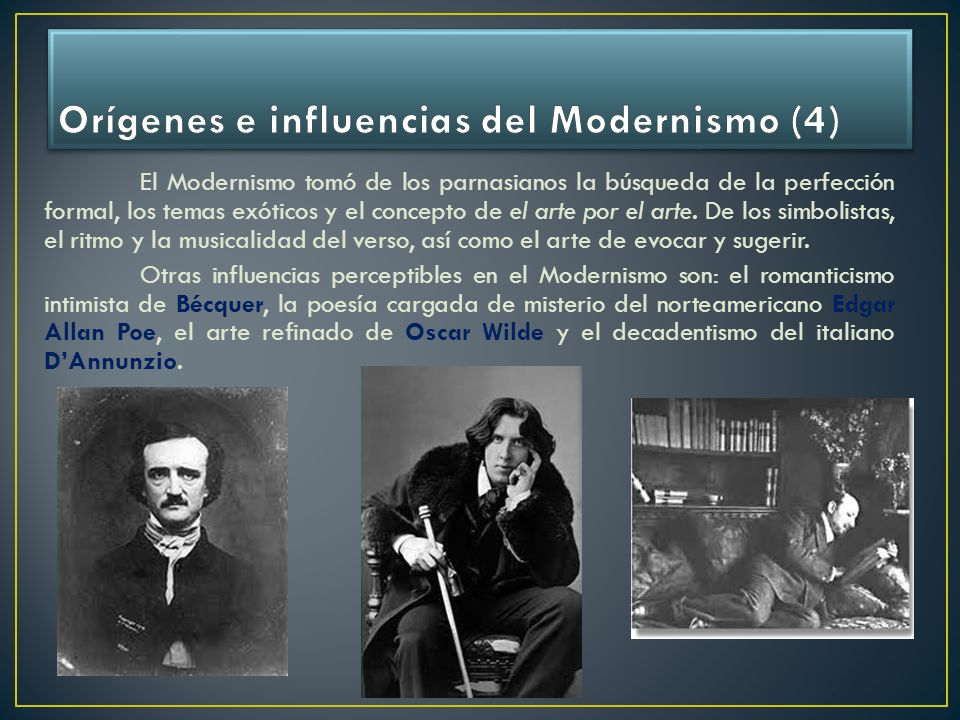 Orígenes e influencias del Modernismo (4)