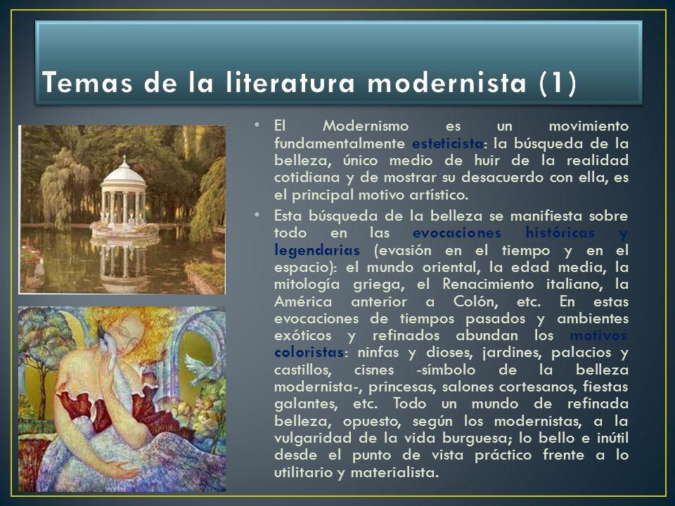 Temas de la literatura modernista (1)