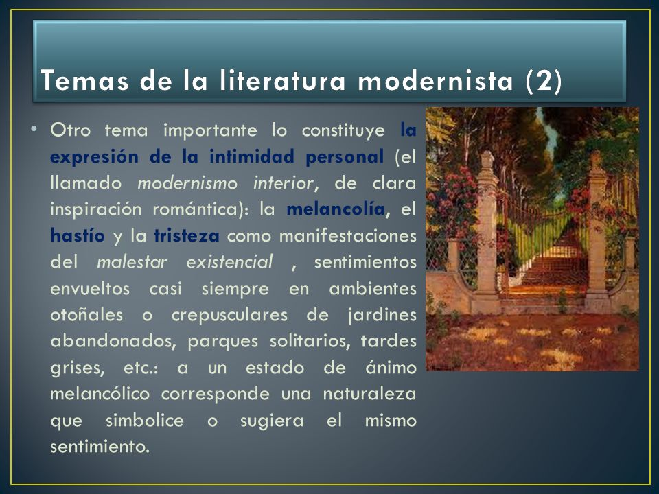 Temas de la literatura modernista (2)