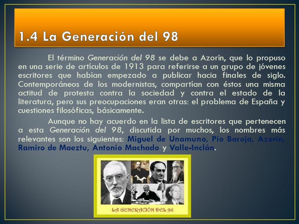 1.4 La Generación del 98