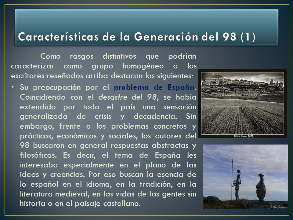 Características de la Generación del 98 (1)