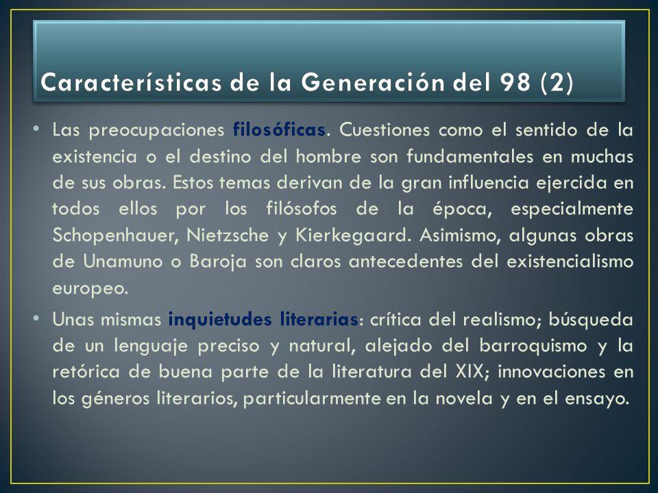 Características de la Generación del 98 (2)