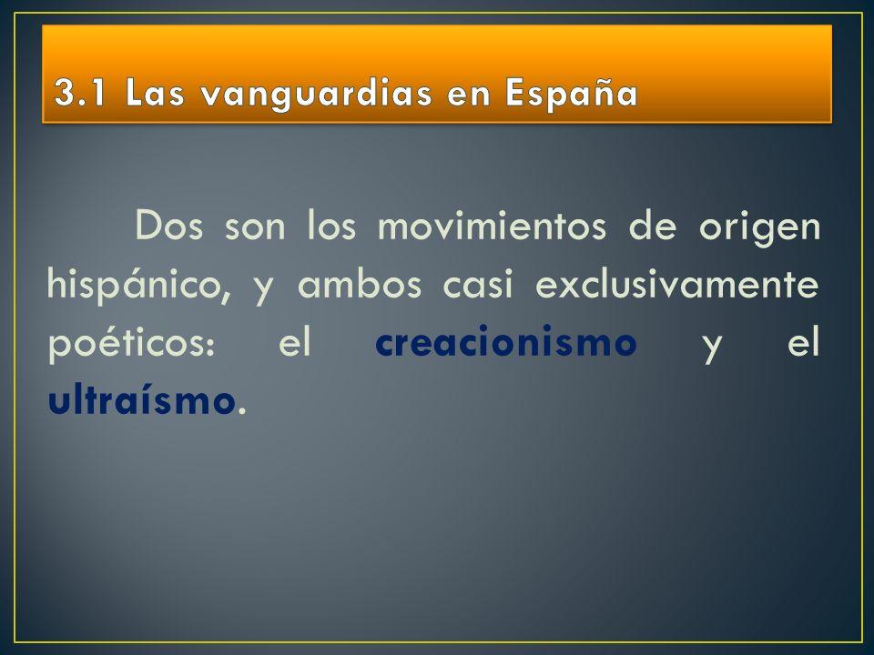 3.1 Las vanguardias en España
